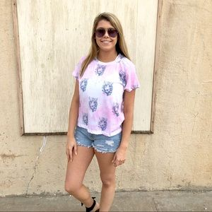 Wildfox Couture Pink Tiger T-Shirt Large Top